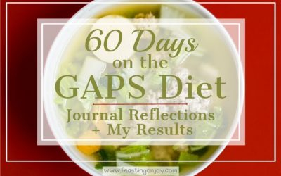 60 days on the GAPS Diet: reflections including a progress report