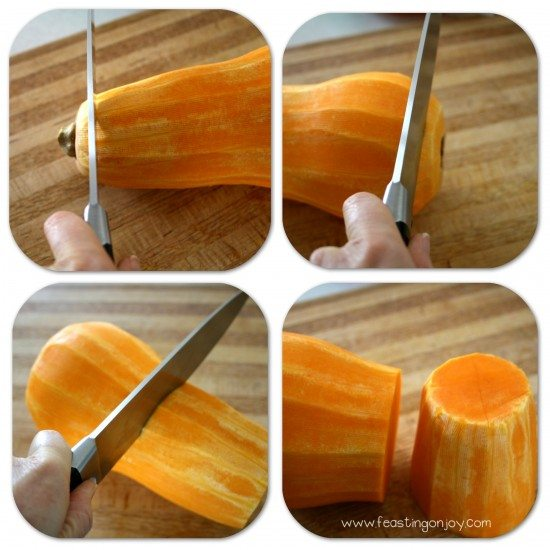 How to peel and prep a butternut squash second steps