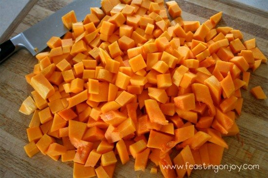 Peeled and Prepped butternut squash