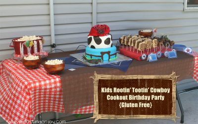 Kids Rootin' Tootin' Cowboy Cookout Birthday Party {Gluten Free}