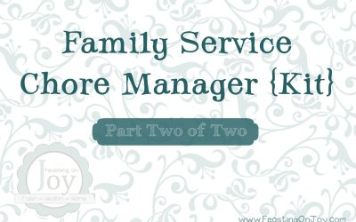Family Service Chore Manager Kit Part Two of Two