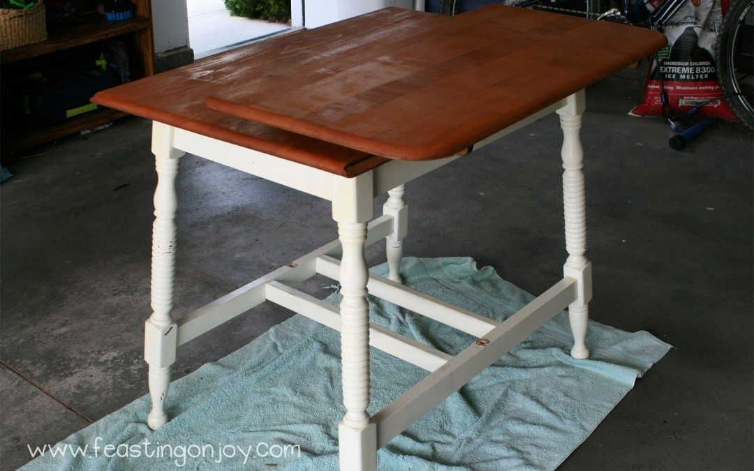 My BIG summer project- a new schoolroom table