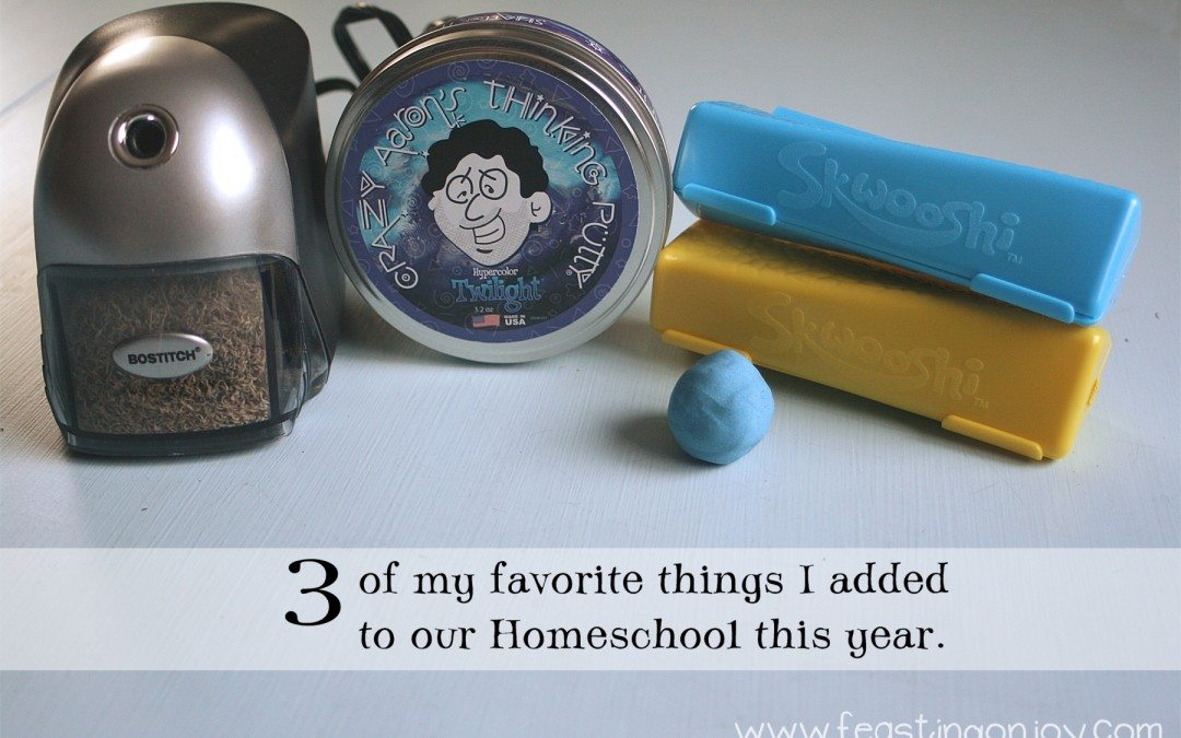 3 of my favorite things I added to our Homeschool this year