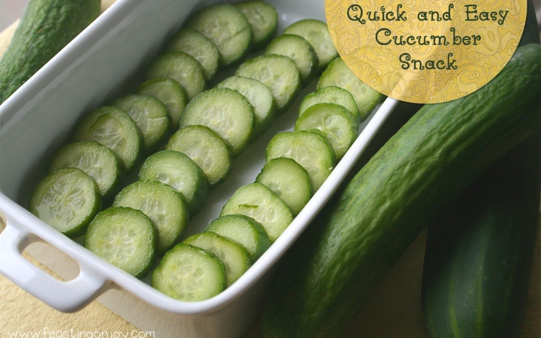 3 Ingredient Quick & Easy Cucumber Snack