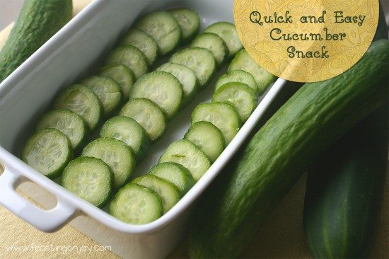 Quick and Easy Cucumber Snack