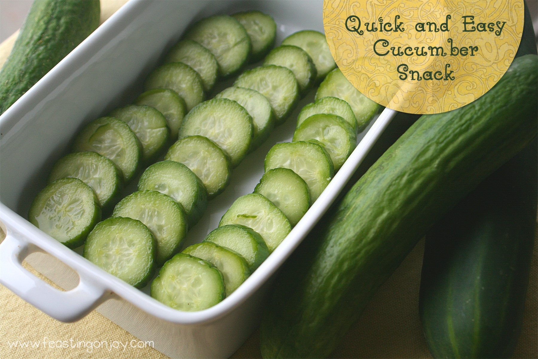 3 Ingredient Quick & Easy Cucumber Snack