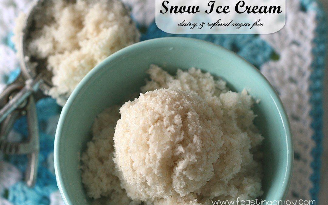 Snow Ice Cream! {Dairy Free & Refined Sugar Free}