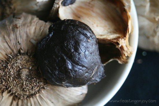 Fermented Black Garlic Close Up