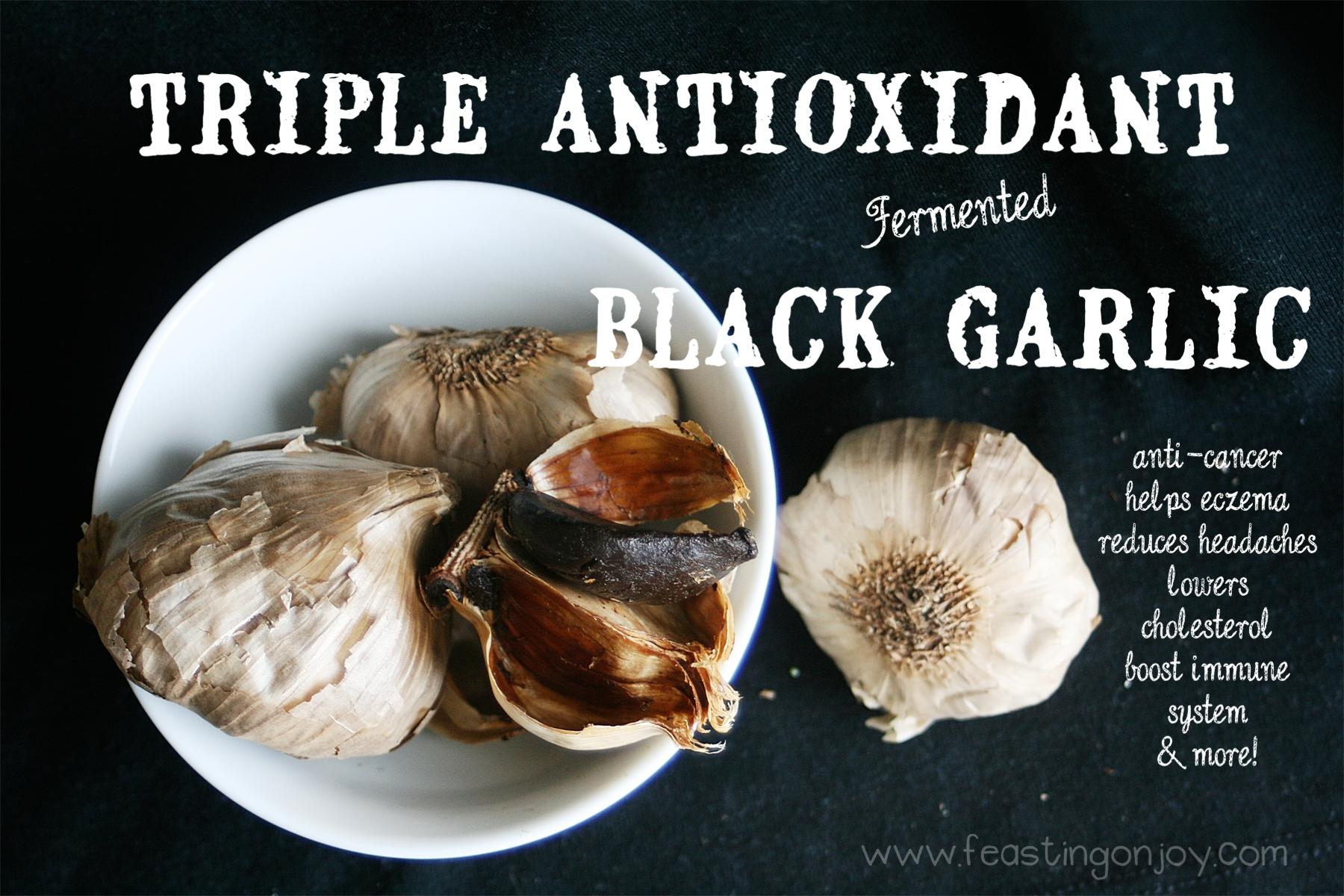 Triple Antioxidant Fermented Black Garlic