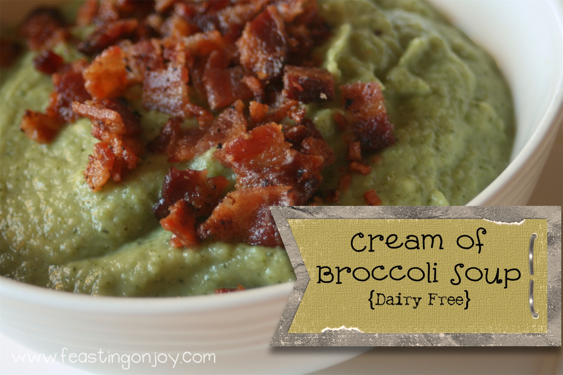 Hot and Hearty Cream of Broccoli Soup {Dairy Free}