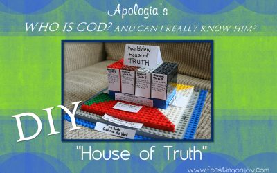 "DIY ""House of Truth"" for Apologia's Who is God? Worldview Curriculum"