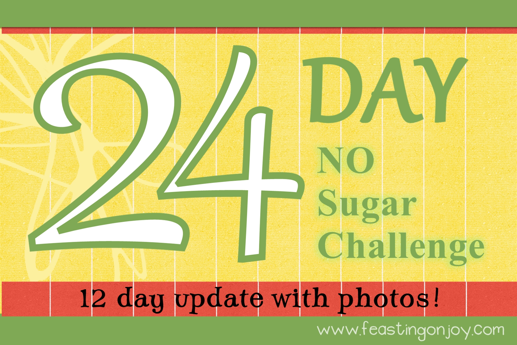 12 Day Update on the 24 Day No Sugar Challenge!
