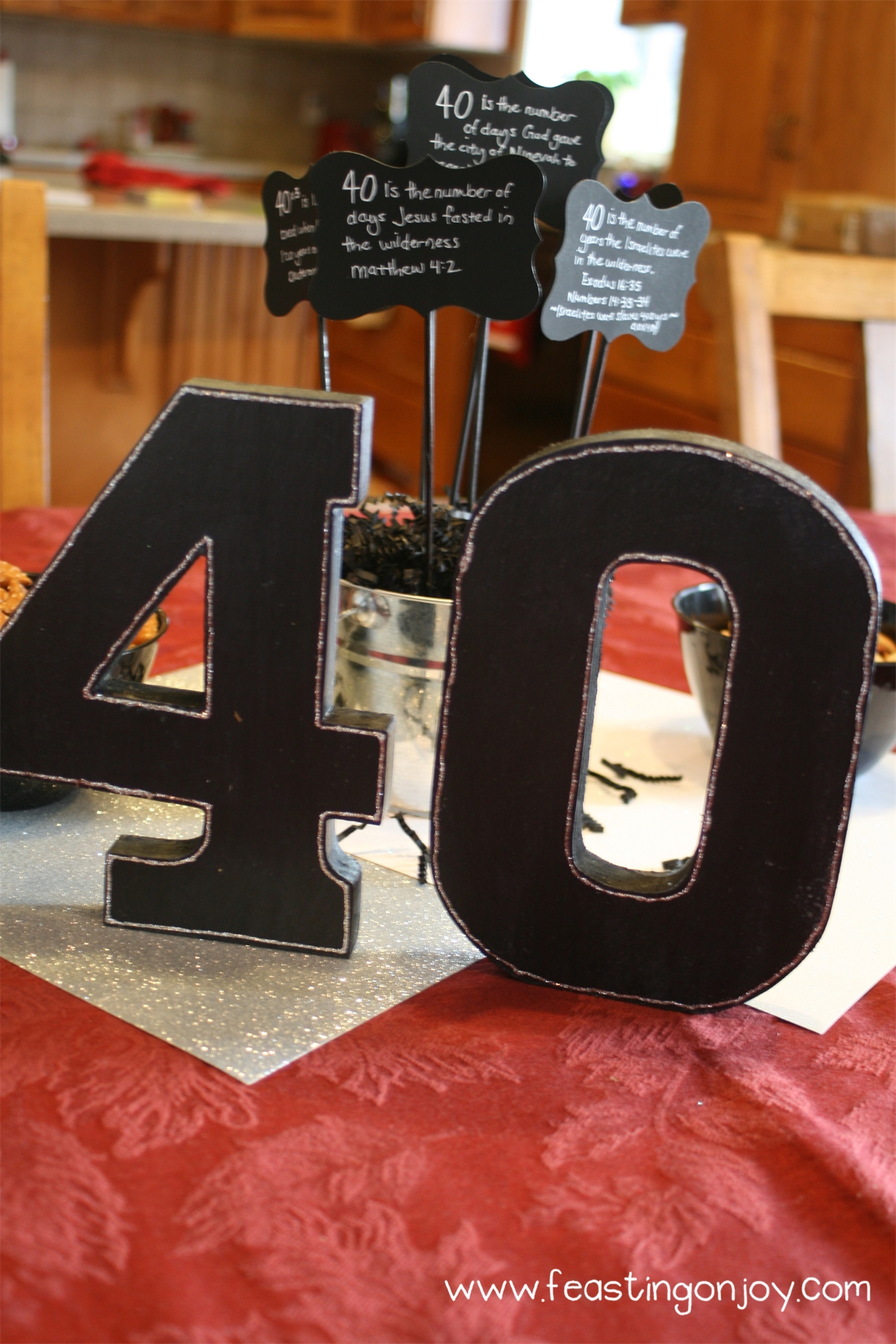 A christian themed manly surprise 40th birthday party for 40 birthday decoration ideas