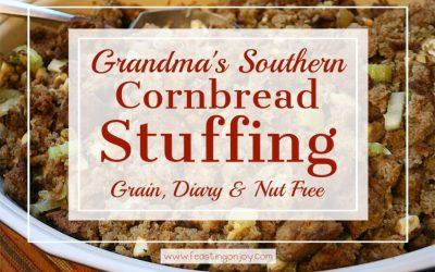 Grandma's Southern 'Corn'bread Stuffing {Grain, Dairy & Nut Free}