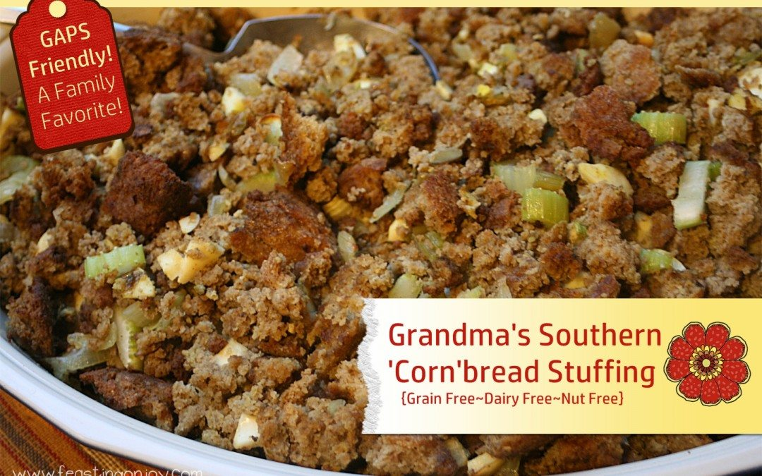 Grandma's Southern 'Corn'bread Stuffing {grain free, dairy free, nut free}