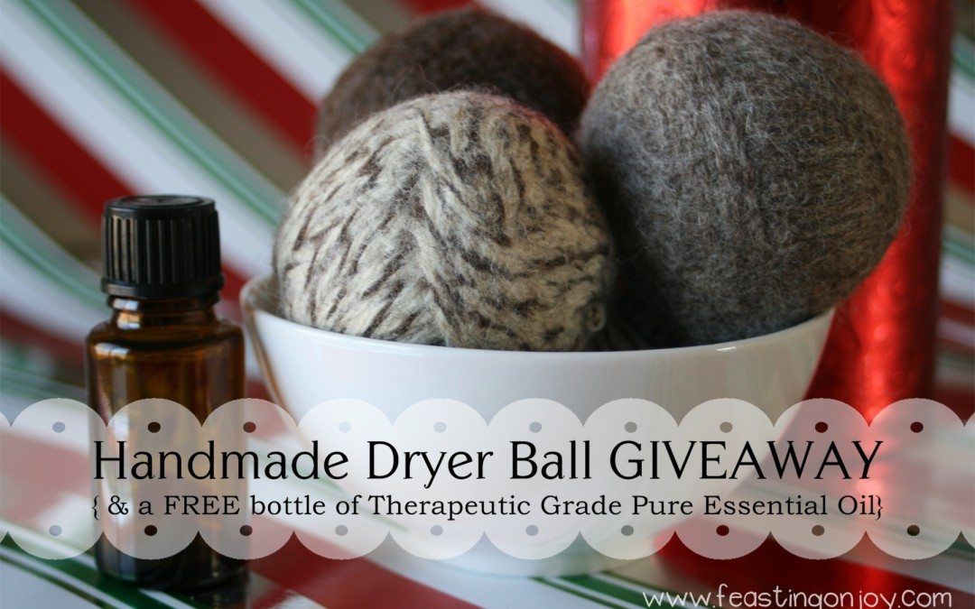 Enter to Win a Set of Handmade Dryer Balls With a Gift of doTERRA Essential Oil