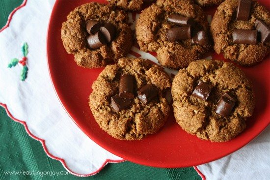Plate of 'Peanut' Butter Chocolate Blossom Cookies