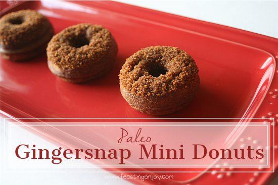 Paleo Gingersnap Mini Donuts 8 | Feasting On Joy