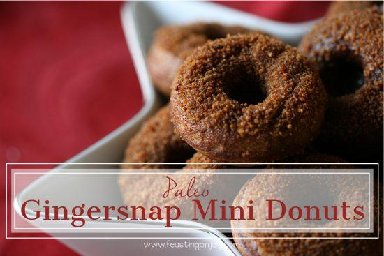 Paleo Gingersnap Mini Donuts | Feasting On Joy