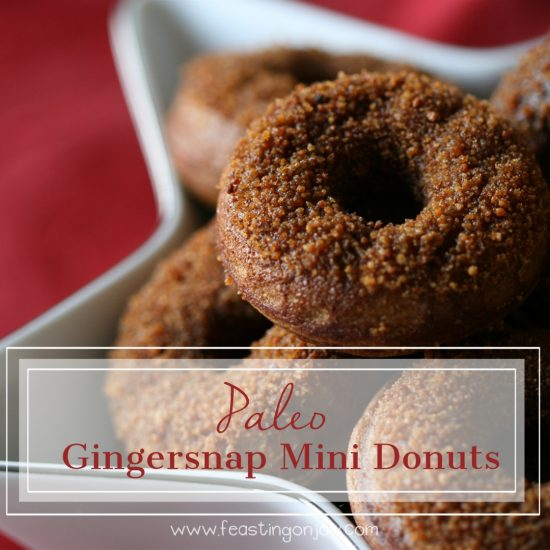 Paleo Gingersnap Mini Donuts 9 | Feasting On Joy