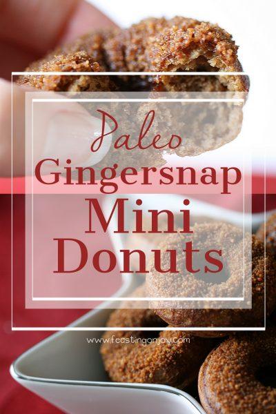 Paleo Gingersnap Mini Donuts 6 | Feasting On Joy