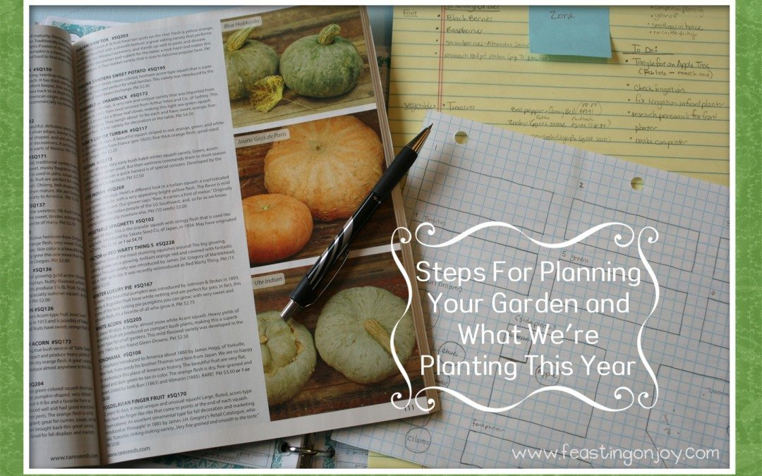 Steps For Planning Your Garden and What We're Planting This Year