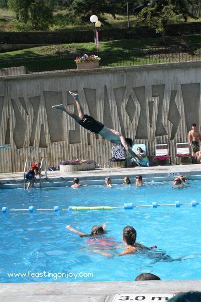 Steve diving