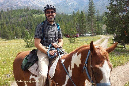 Steve horseback riding