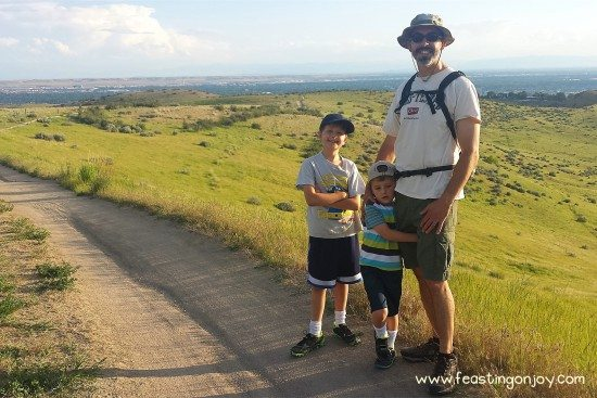 The guys hiking
