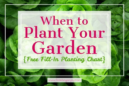 When to Plant Your Garden {With Free Fill-In Planting Chart} 3   Feasting On Joy