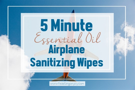 5 Minute Essential Oil Airplane Sanitizing Wipes   Feasting On Joy