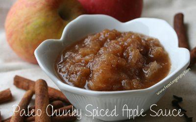 Small Batch Chunky Spiced Applesauce {Paleo/AIP/GAPS}