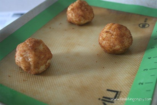 Paleo Gluten Free Hes Alive Buns Balls on Cookie Sheet