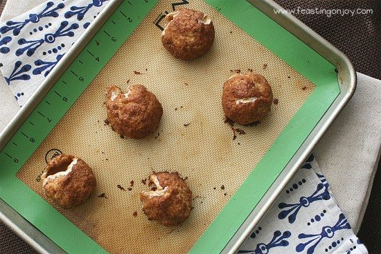 Paleo Gluten Free Hes Alive Buns Balls on Cookie Sheet Overhead