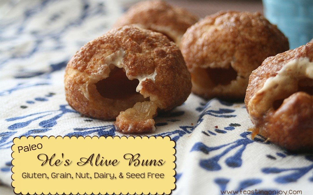 Paleo He's Alive Buns {Gluten, Grain, Dairy, Nut & Seed Free}
