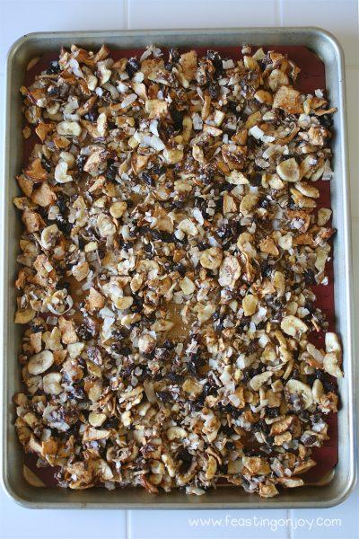 Pan of AIP Baked Apple Cinnamon Granola