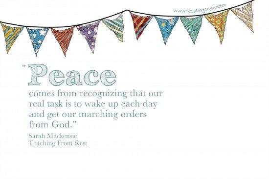 Peace Sarah Mackenzie