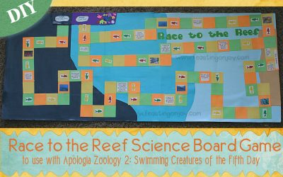 Race to the Reef Science Board Game to Use With Apologia Zoology 2 Swimming Creatures of the Fifth Day {DIY}