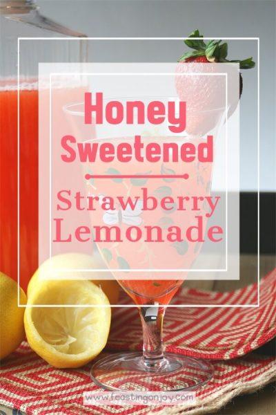 Honey Sweetened Strawberry Lemonade {AIP & GAPS Friendly}   Feasting On Joy