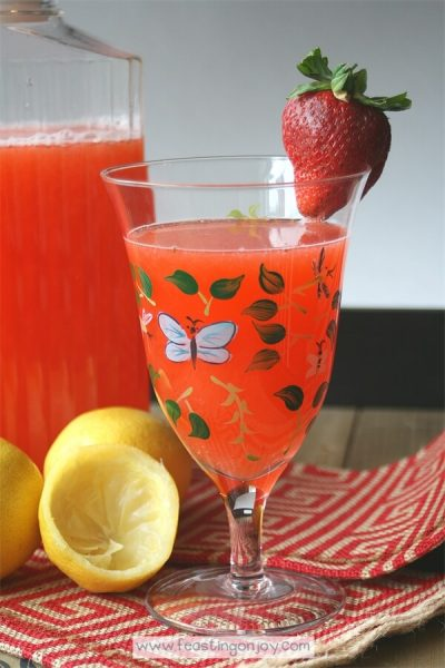 Honey Sweetened Strawberry Lemonade {AIP & GAPS Friendly} 2   Feasting On Joy