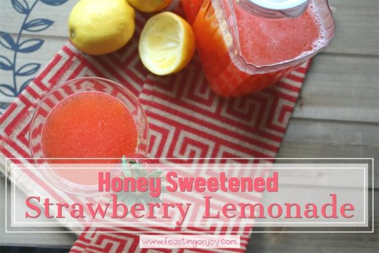Honey Sweetened Strawberry Lemonade {AIP & GAPS Friendly} 1   Feasting On Joy