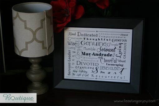 Black and White Personalized Family Print