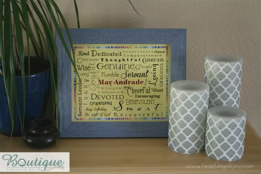 Cheerful Personalized Family Print