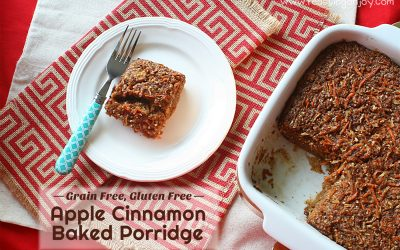 Grain Free, Gluten Free Baked Apple Cinnamon Porridge