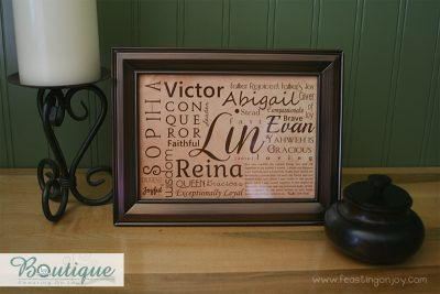 Rustic Personalized Family Print