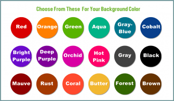 Solid Background Colors to Choose From