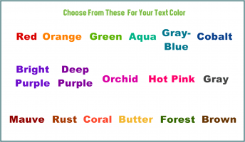 Text Color to Choose From