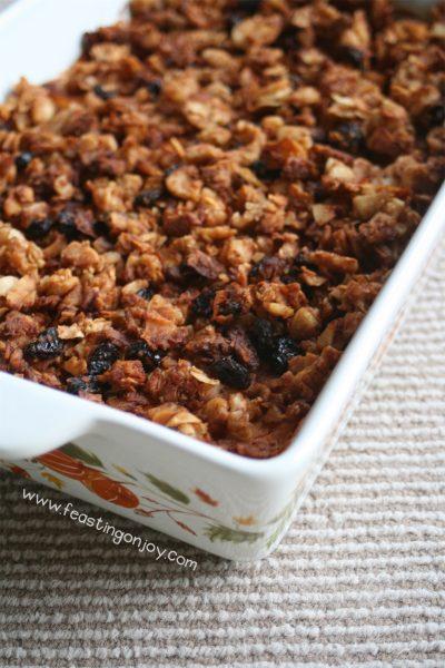 Nut Free Sweet Potato Casserole with Cardamom Essential Oil 2 | Feasting On Joy