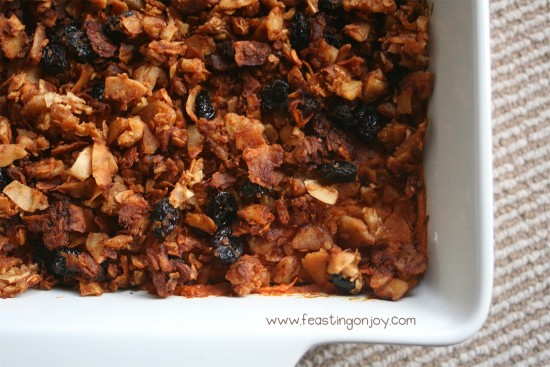 Nut Free Sweet Potato Casserole with Cardamom Essential Oil 1 | Feasting On Joy