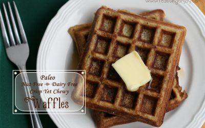 Paleo Nut Free Dairy Free Crisp Yet Chewy Waffles